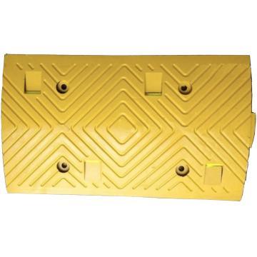 襄辰 原生橡胶减速带,500×295×37mm(不含封头,含安装配件)