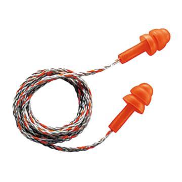 优唯斯 可重复使用耳塞,2111201,圣诞树型带线,50副/盒