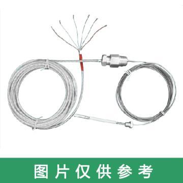 沈阳宇光 轴瓦专用单头铠装铂热电阻, WRNK-1/1B 、WREK-1/1B K型、E型 软线+阻油段