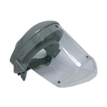 洁适比JSP 防护面屏套装, 02-3250,帕洛玛全面防护面罩含头戴式支架(灰) 带下颚护盔