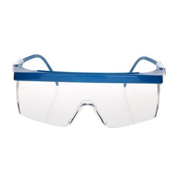 3M 防护眼镜,1711 防护眼镜 防刮擦涂层 蓝色镜架