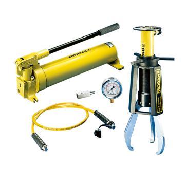 恩派克ENERPAC 液压拔轮器套装,15ton,25-381mm,EPH-110(含拔轮器+泵+软管+表+油缸+表座)
