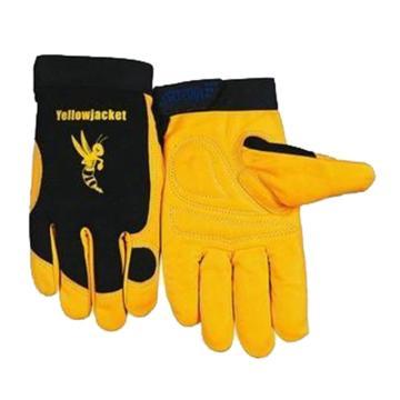 威特仕 半皮手套,10-2680-L,牛皮机械师手套