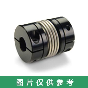 Ruland BC-波纹管联轴器,夹紧式,英制,铝合金,BC10-2-2-A