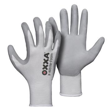 OXXA 丁腈涂层手套,51-280-10,15针尼龙无缝编织,12副/打