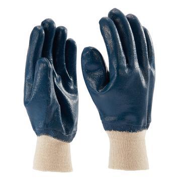 B&Z 丁腈涂层手套,6117-8,蓝色 全浸 绒里,12副/打