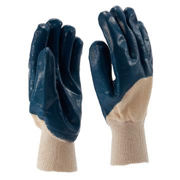 B&Z 丁腈涂层手套,6116-8,蓝色 3/4浸 绒里,12副/打