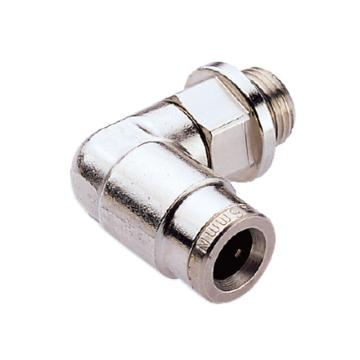 诺冠Norgren 弯通快插金属接头,直外螺纹,102471448