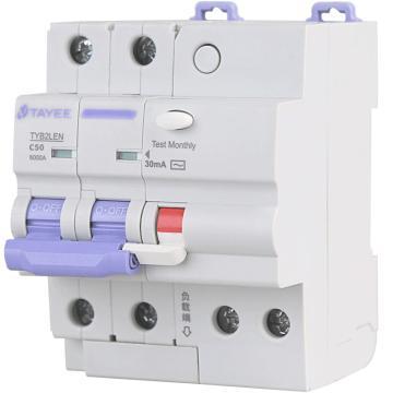 天逸TAYEE 微型剩余电流保护断路器 TYB2LEN 2P 40A C型 30mA AC