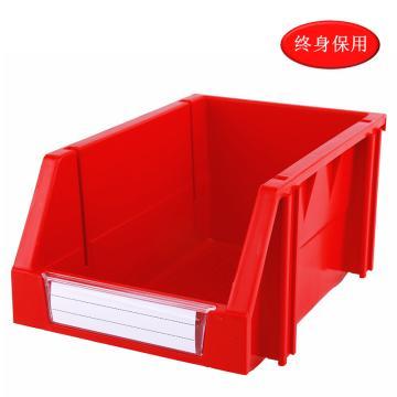 Raxwell 组立背挂零件盒 物料盒,外尺寸规格D*W*H(mm):240×150×124,全新料,红色,单位:个