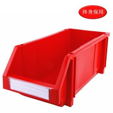 Raxwell 组立背挂零件盒 物料盒,外尺寸规格D*W*H(mm):450×200×177,全新料,红色,单位:个