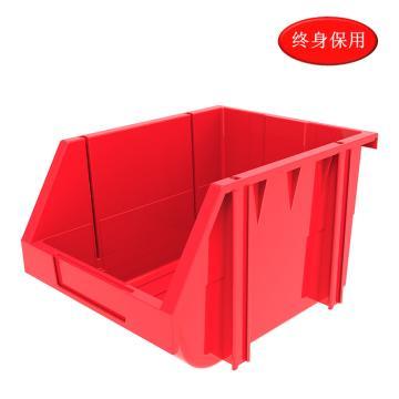 Raxwell 组立背挂零件盒 物料盒,外尺寸规格D*W*H(mm):280×214×175,全新料,红色,单位:个
