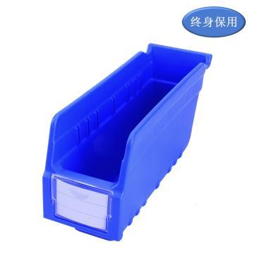 Raxwell 精益零件盒 物料盒,外尺寸规格D*W*H(mm):300×100×150,全新料,蓝色,单位:个