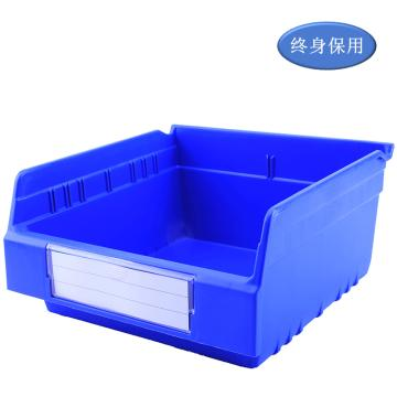 Raxwell 精益零件盒 物料盒,外尺寸规格D*W*H(mm):300×300×150,全新料,蓝色,单位:个