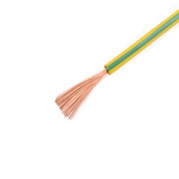 远东 铜芯聚氯乙烯绝缘屏蔽软电线,RVP-300/300V-1*6黄绿,100米/卷