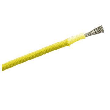 远东 铜芯聚氯乙烯绝缘屏蔽软电线,RVP-300/300V-1*4黄,100米/卷