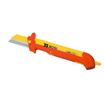 波斯BOSI VDE绝缘直平可换式电缆刀,48*185mm,BS600210