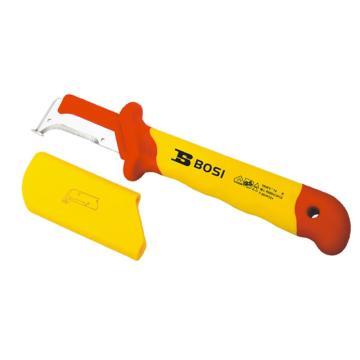 波斯BOSI VDE绝缘护套式钩镰型电缆刀,50*185mm,BS600209