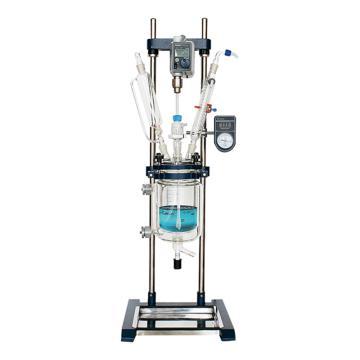 长城科工贸 调速玻璃反应釜,物料容积:1L,搅拌速度:50~500rpm,GR-1