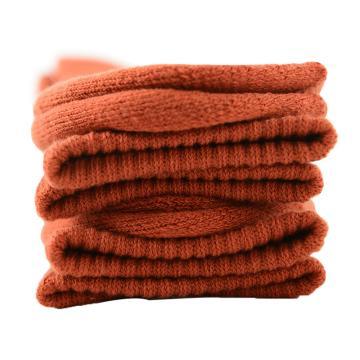 美看 男士毛圈袜,MK1225男-砖红,纯色,1双