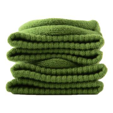 美看 女士毛圈袜,MK1225女-橄榄,纯色,1双