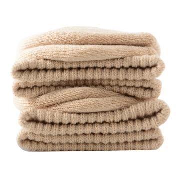 美看 女士毛圈袜,MK1225女-燕麦,纯色,1双
