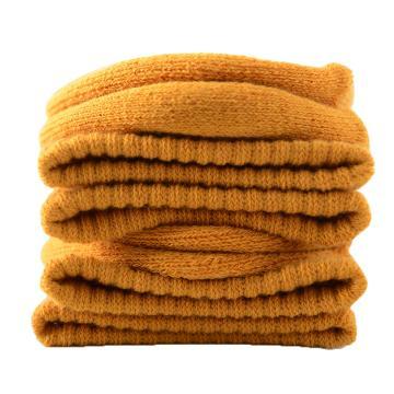 美看 女士毛圈袜,MK1225女-姜黄,纯色,1双