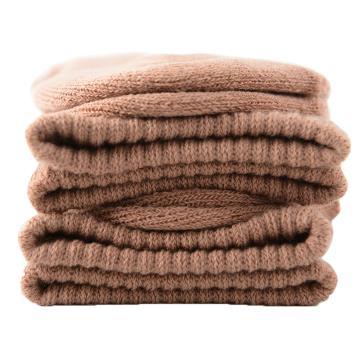 美看 女士毛圈袜,MK1225女-淡茶,纯色,1双