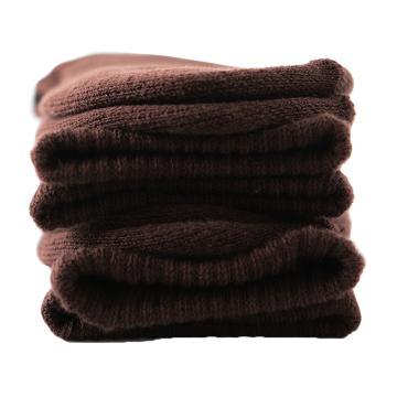 美看 女士毛圈袜,MK1225女-巧克力,纯色,1双