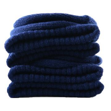 美看 女士毛圈袜,MK1225女-农夫蓝,纯色,1双