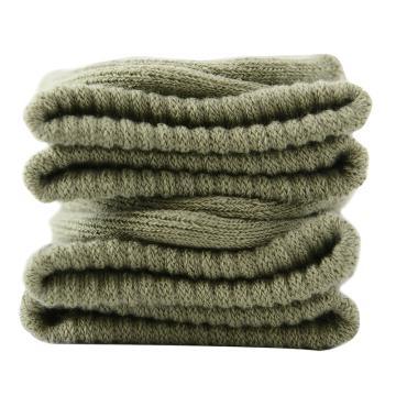 美看 女士毛圈袜,MK1225女-绿灰,纯色,1双