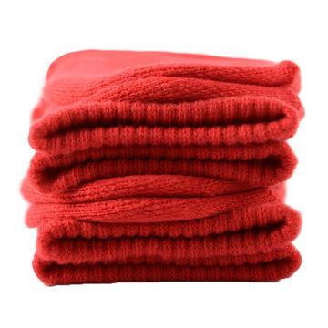 美看 女士毛圈袜,MK1225女-中国红,纯色,1双