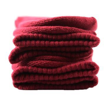 美看 女士毛圈袜,MK1225女-酒红,纯色,1双