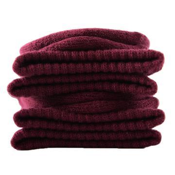 美看 女士毛圈袜,MK1225女-酱紫,纯色,1双
