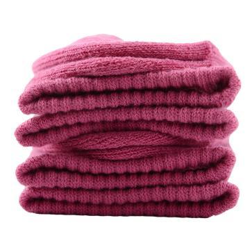 美看 女士毛圈袜,MK1225女-玫粉,纯色,1双