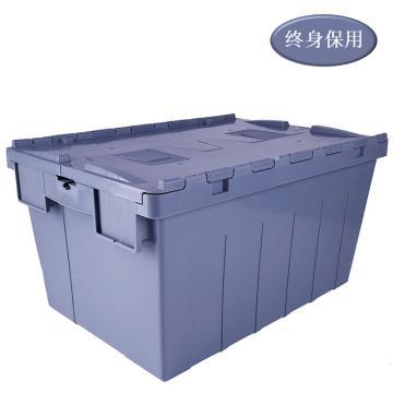 Raxwell 灰色斜插箱,可插式周转箱,外尺寸(mm),600×400×365,TK64365