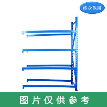 Raxwell 5层中型货架副架(2板4加强筋),200kg,尺寸(长*宽*高mm):2000*600*2000,蓝色,安装费另询