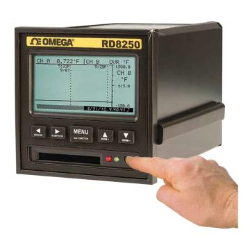 OMEGA 无纸记录仪,2路输入 带可充电电池 RD8252-UPS