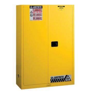 杰斯瑞特JUSTRITE 黄色易燃液体存储柜,FM认证,45加仑/170升,双门/手动,8945001