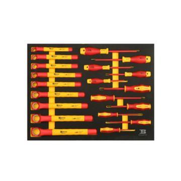 波斯BOSI 20件扳手旋具工具托组套(522072A),20件,BS522072A