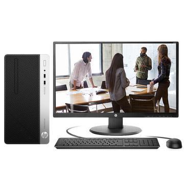 惠普台式机,ProDesk 400 G6 MT 7ZB97PA i5-9500 4G/1TB win10-h 3年/21.5显示器 套机