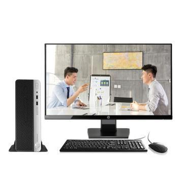惠普台式机,ProDesk 400G6 SFF TBD i3-8100 4G/256G SSD+1TB win10-h 3年/21.5显示器 套机 小机箱