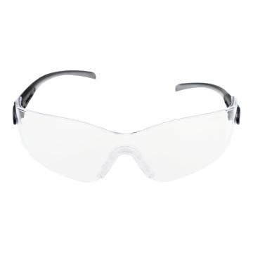 梅思安MSA 防护眼镜,9913282,阿拉丁-C防护眼镜 黑/银色镜脚 防紫外线透明镜片