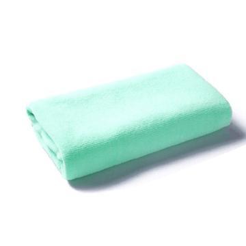 小方巾,纤维小毛巾 30x30浅绿色