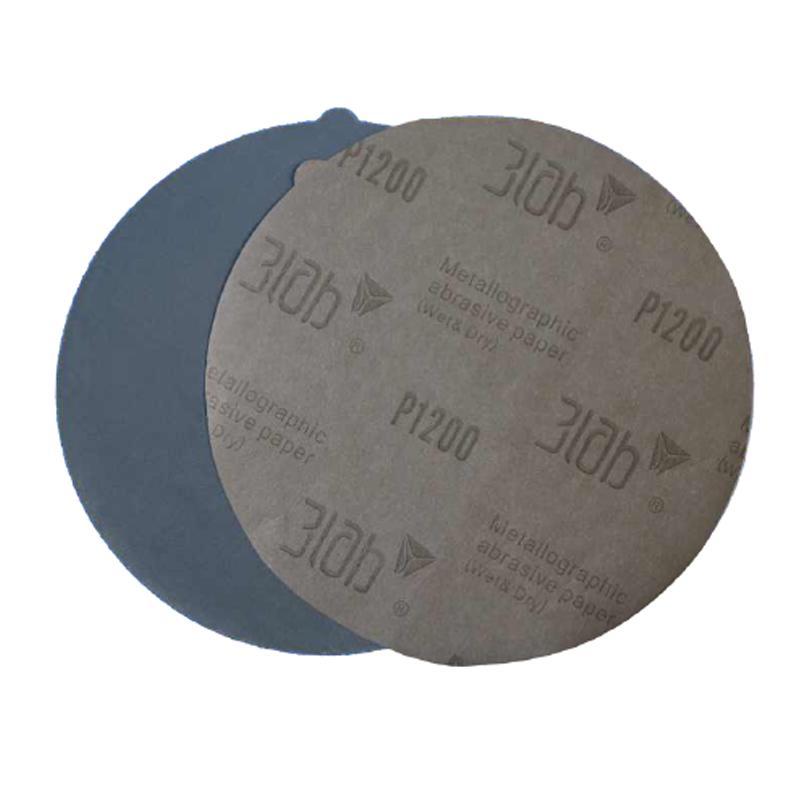 三灵 金相砂纸,碳化硅,800#,Φ200mm,带背胶,100张/小盒