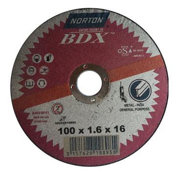 诺顿BDX切割片,不锈钢,100x1.6x16,