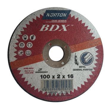 诺顿BDX切割片,通用型,100x2x16