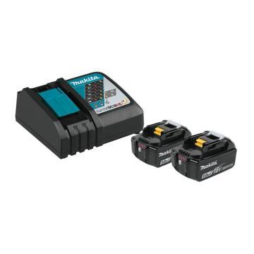 牧田 18V充电式5.0A.h锂电池两电一充套装,电池BL1850B*2+DC18RC*1,198593-0