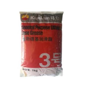 昆仑 润滑脂,通用锂基脂 3号,1kg/袋