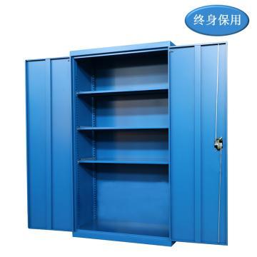 Raxwell 蓝色双开门置物柜(三层板),尺寸(长*宽*高mm):1000*500*1800,RHST0019